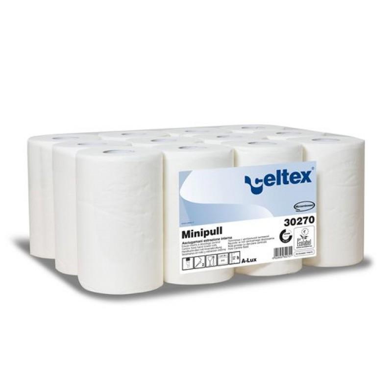 Бумажные полотенца в рулонах с центральной вытяжкой Minipull