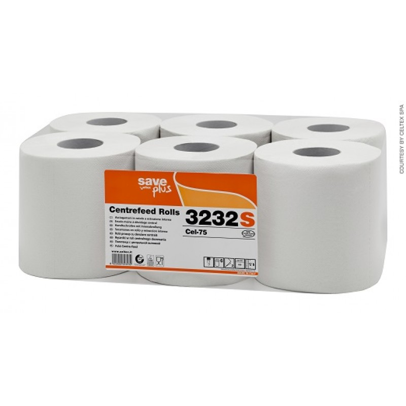 Бумажные полотенца в рулонах с центральной вытяжкой Maxi Pull Save