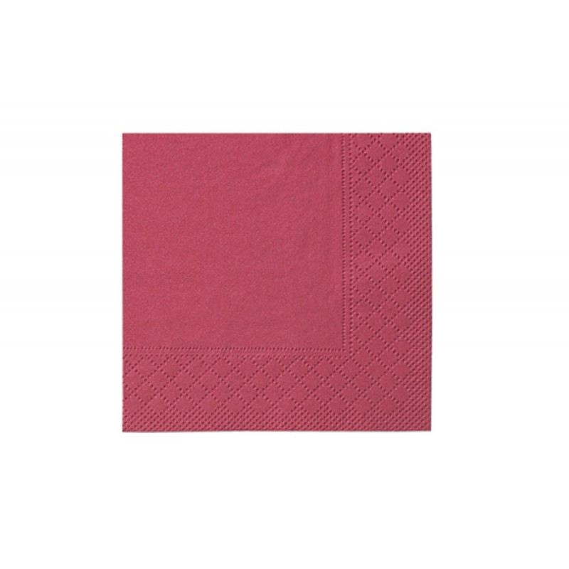Бумажные салфетки Standart bordeaux 33 х 33