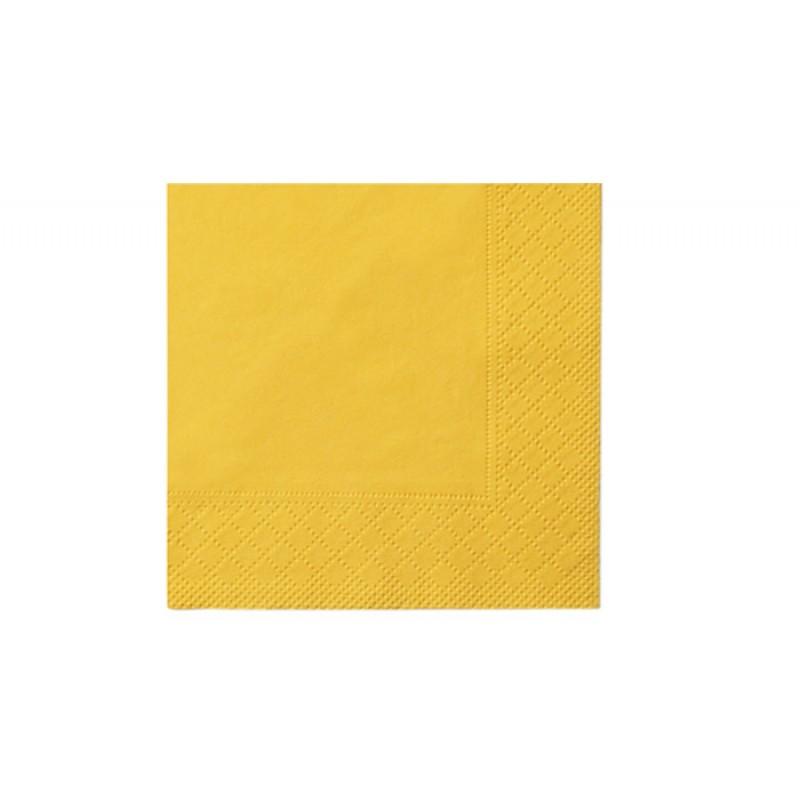 Бумажные салфетки Standart gelb 33 х 33