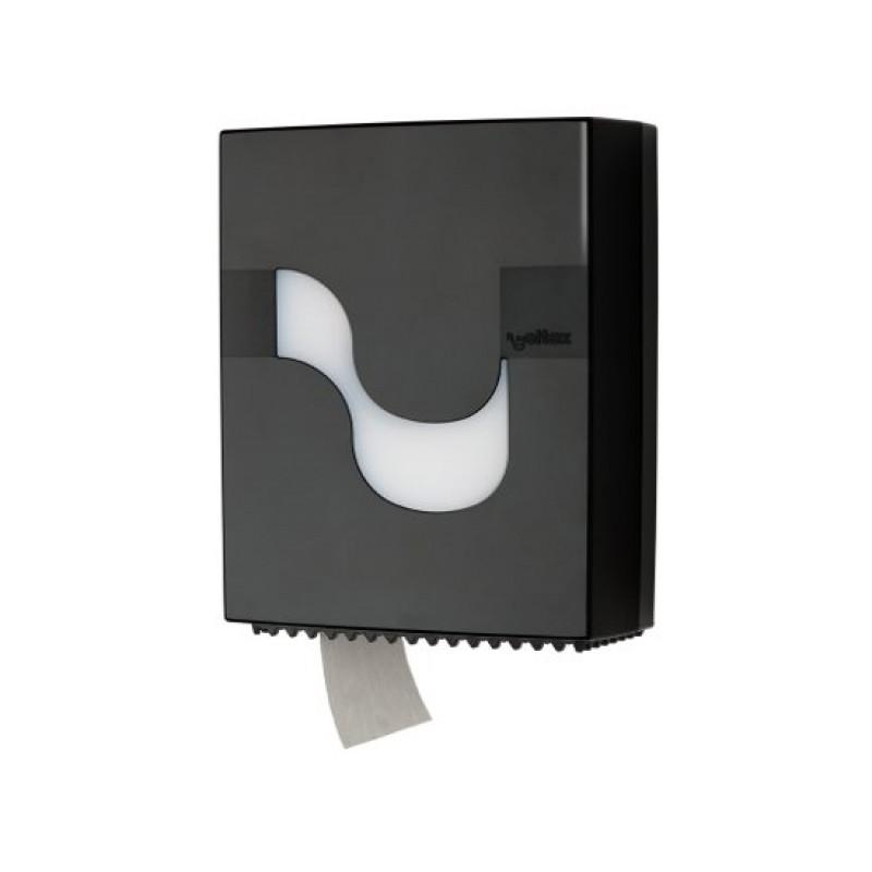 Диспенсер для рулонной туалетной бумаги MEGAMINI Maxi Jumbo BLACK