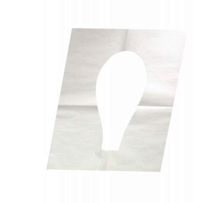 Гигиенические одноразовые бумажные сиденья для унитаза 1/4 сложения