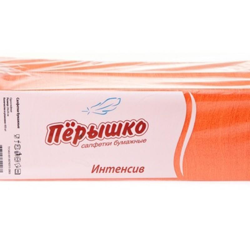 Бумажные салфетки Биг-Пак Интенсив оранжевые 24 х 24