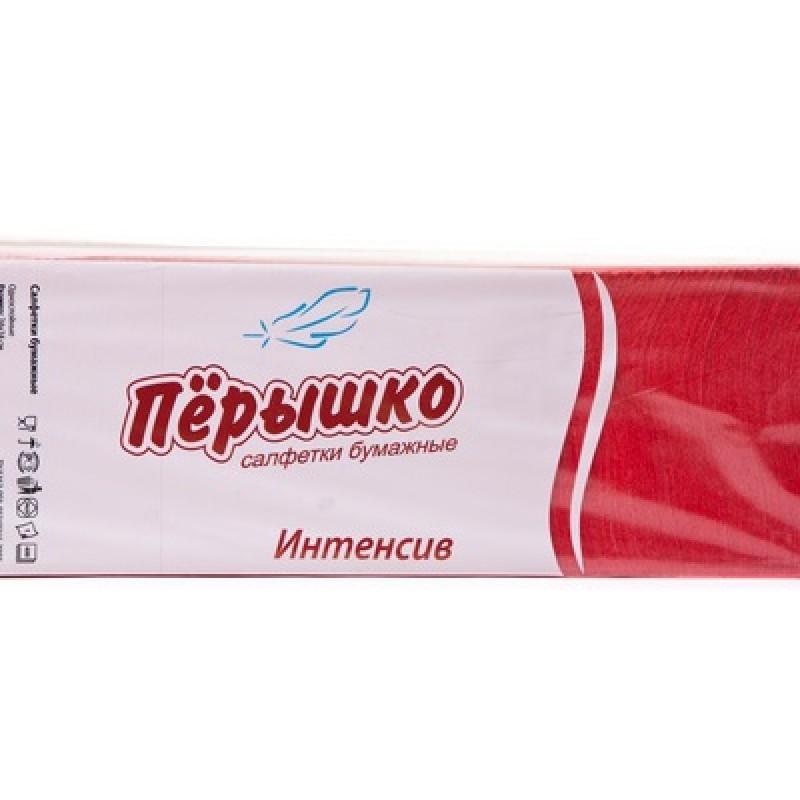 Бумажные салфетки Биг-Пак Интенсив красные 24 х 24