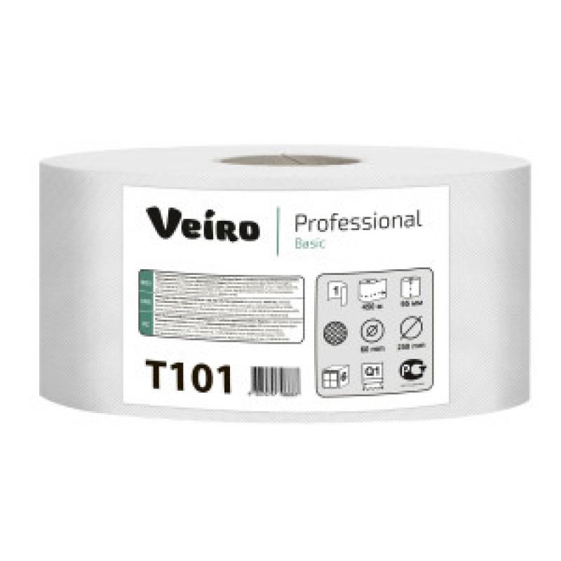 Т101 Туалетная бумага джамбо Maxi Veiro Basic 450