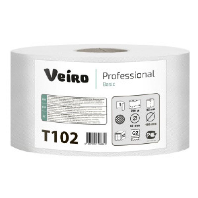 Т102 Туалетная бумага джамбо Mini Veiro Basic 200
