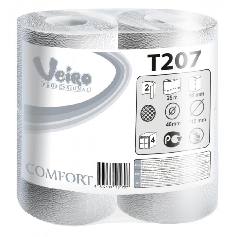 Т207 Туалетная бумага в малых рулонах Veiro Professional Comfort