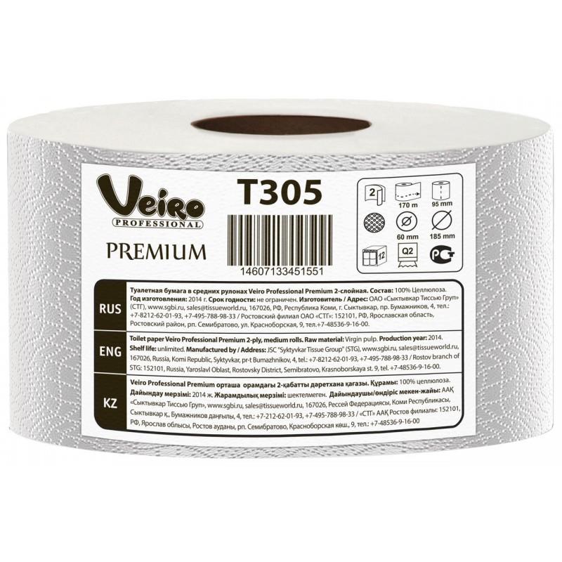 Т305 Туалетная бумага джамбо Mini Veiro Premium 170