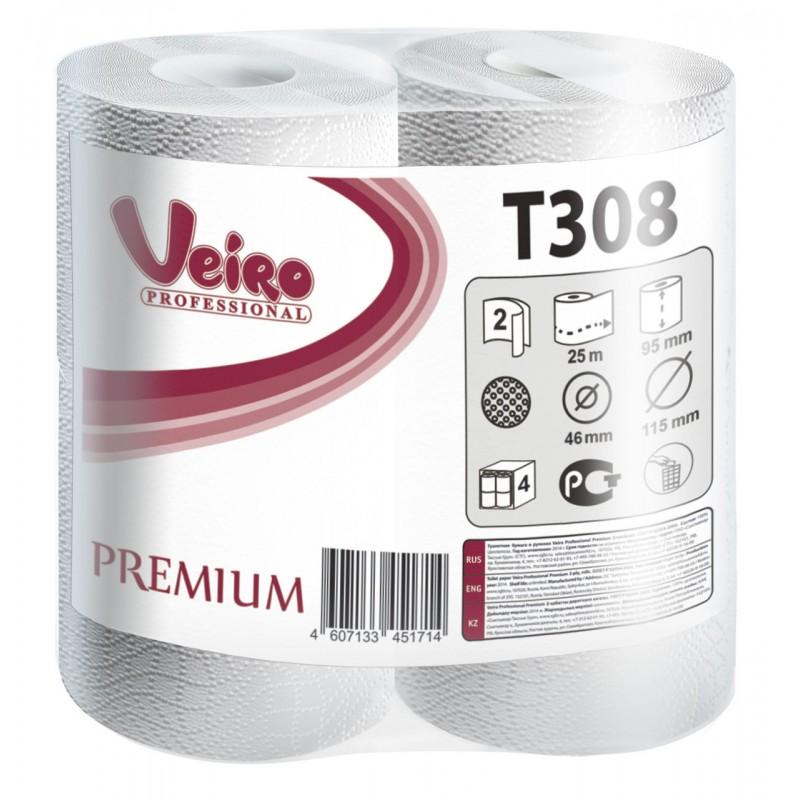 Т308 Туалетная бумага в малых рулонах Veiro Professional Premium
