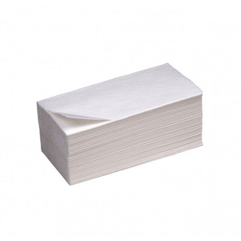 Бумажные полотенца 1 слойные белые V