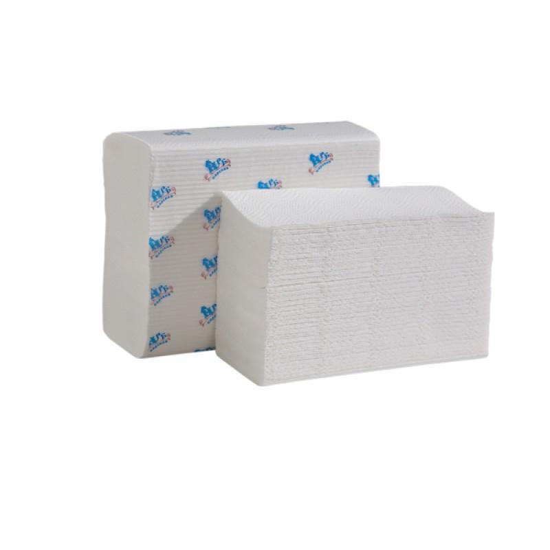 Бумажные полотенца 2-х слойные белый Z-сложения